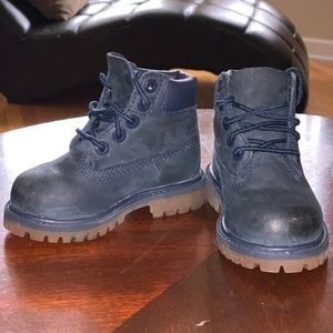 Navy Blue Toddler Timberland Boots